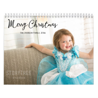 Personalized Calendar With Christmas Greetings