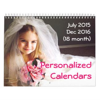 Personalized Calendars 2015-2016 18 Month Calendar