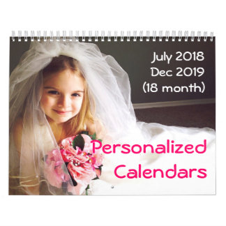 Personalized Calendars 2018-2019 18 Month Calendar
