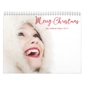 Personalized Calendars Red Christmas 2017
