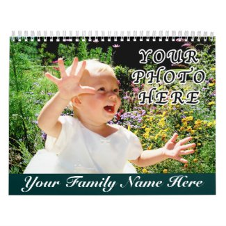 Personalized Calendars with YOUR NAME and PHOTOS Wall Calendar