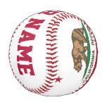 Personalized California Republic Flag Baseball