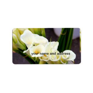 personalized calla lily label address label