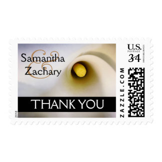 Personalized Calla Lily Thank You Postage Stamps