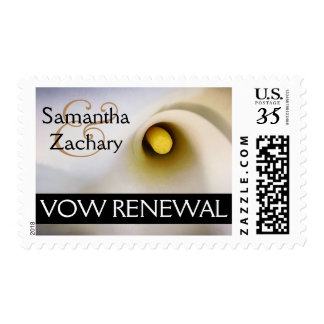 Personalized Calla Lily Vow Renewal Postage Stamps