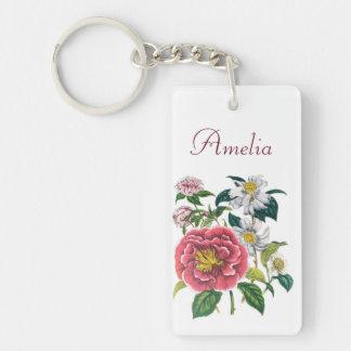 Personalized Camellias Keychain