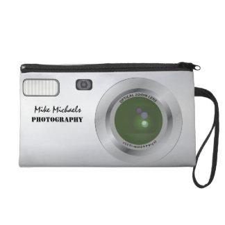 Personalized camera bag wristlet clutch