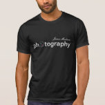 Personalized Camera Lens Photography T-shirt at Zazzle