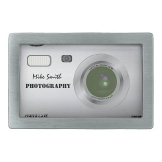 Personalized camera photographer belt buckle