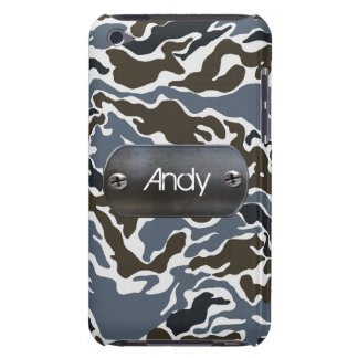 personalized camo army gray iPod touch case