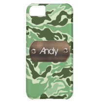 personalized camo army green case for iPhone 5C