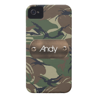 personalized camo army green Case-Mate iPhone 4 case