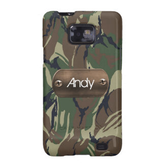 personalized camo army green galaxy s2 case