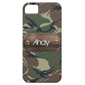 personalized camo army green iPhone 5 cases