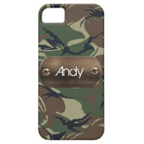 personalized camo army green iPhone SE/5/5s case