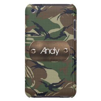 personalized camo army green iPod Case-Mate case