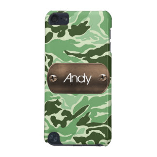 personalized camo army green iPod touch (5th generation) cover