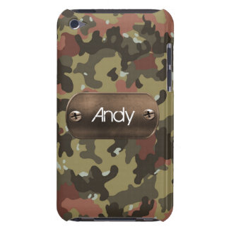 personalized camo army green iPod touch case