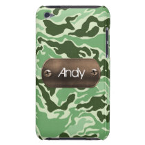 personalized camo army green iPod touch cover