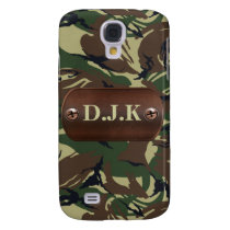 personalized camo Army name tag 3 casing Samsung Galaxy S4 Cover