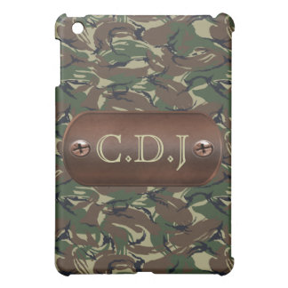 personalized camo army name tag casing iPad mini cover