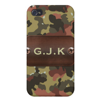 personalized camo army name tag Iphone4 casing iPhone 4/4S Cases