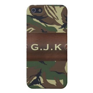 personalized camo army name tag Iphone4 casing iPhone SE/5/5s Case