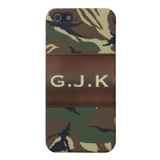 personalized camo army name tag Iphone4 casing iPhone SE/5/5s Cover