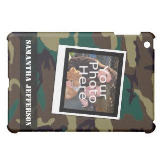 Personalized Camoflauge Military Photo iPad Case