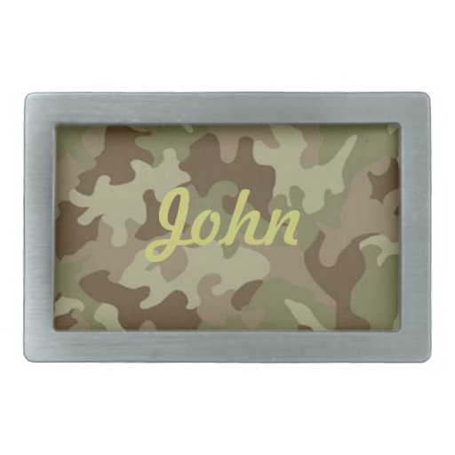 Personalized Camouflage Belt Buckle