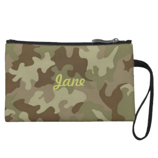 Personalized Camouflage Clutch Purse