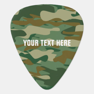 Personalized camouflage color guitar pick