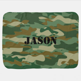 Personalized camouflage color pattern baby blanket