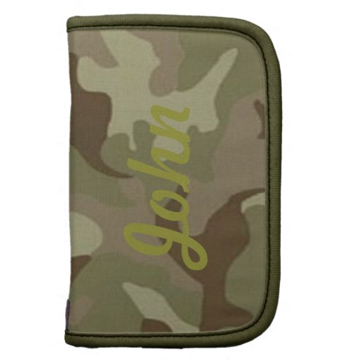 Personalized Camouflage Folio Planner