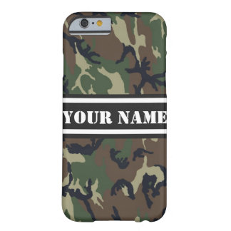 Personalized Camouflage Pattern Barely There iPhone 6 Case