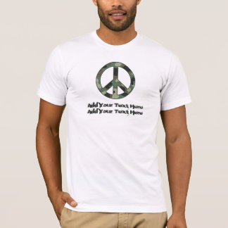 Personalized Camouflage Peace Sign Tshirt