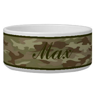 Personalized  Camouflage Pet Bowl