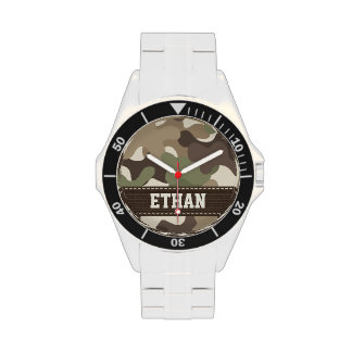Personalized Camouflage Wrist Watches