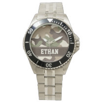 Personalized Camouflage Wristwatch