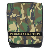 Personalized Camouflaged Pattern Backpack