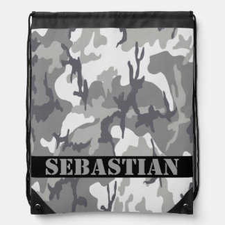 Personalized Camouflaged Pattern Drawstring Backpack
