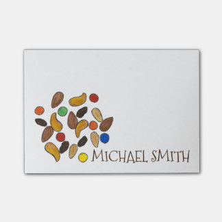 Personalized Camp Camping Trail Mix Post Its Post-it Notes