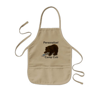"Personalized ""Camp Cub"" Kid's Apron Apron"