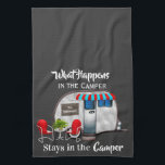 """Personalized Camper Kitchen Towel<br><div class=""""desc"""">A fun kitchen towel with easy personalization.  Would make a great gift or addition to your camper decor.</div>"""