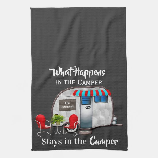 Personalized Camper Kitchen Towel