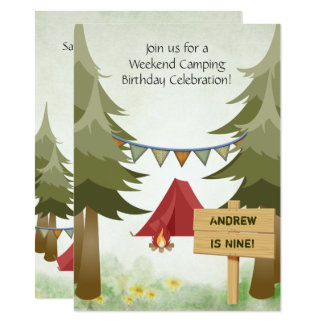 Personalized Camping Birthday Party Invitation