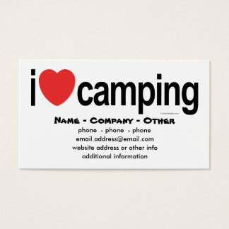 Personalized Camping Business Card