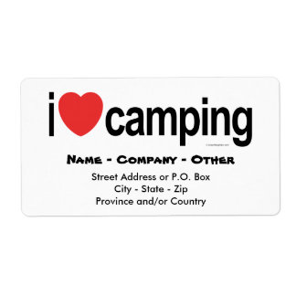Personalized Camping Custom Shipping Label