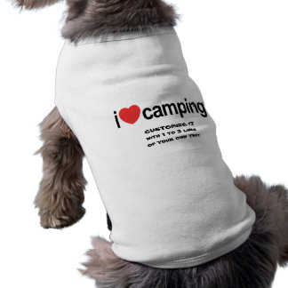 Personalized Camping Dog Clothes