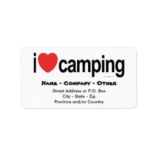 Personalized Camping Labels